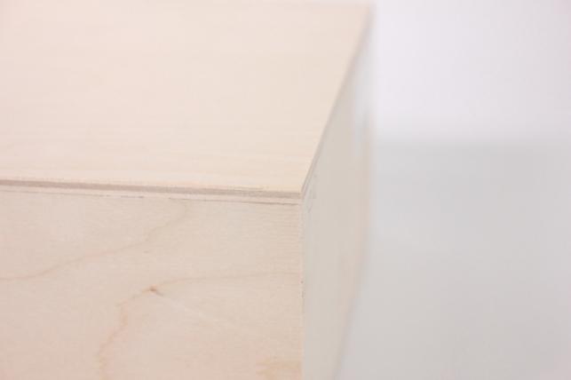 деревянная заготовка - салфетница высокая большая 18х8см h=17см