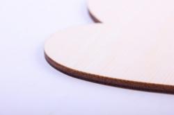 деревянная заготовка - сердце 1 стилизованное12,5*9см, фанера 4мм  1-10-18
