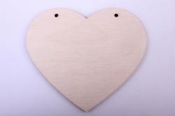 Деревянная заготовка - Сердце 2 подвесное 11*9,5см, фанера 4мм 1-10-19