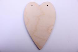 деревянная заготовка - сердце 3 14,5*9,5см, фанера 4мм 1-10-20