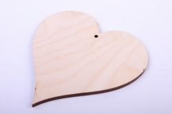 Деревянная заготовка - Сердце 4 10*10см, фанера 4мм  1-10-21