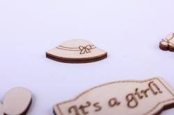деревянная заготовка - сердце 6 10,2*10см, фанера 4мм 1-10-23