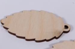 деревянная заготовка - шишка 8*4,6см, 3шт, набор, фанера 4мм,  302016