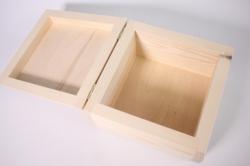 деревянная заготовка - шкатулка бочонок большой 17*17см, h=10см