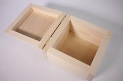деревянная заготовка - шкатулка бочонок средний 14*14см, h=10см