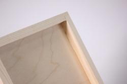 деревянная заготовка - шкатулка чайная 16*16см, h=8см