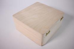 деревянная заготовка - шкатулка чемоданка 17*17см, h=8см