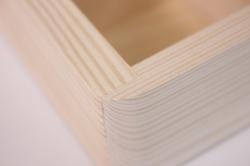 деревянная заготовка - шкатулка чемоданка+4 отделения 18*18см, h=8см