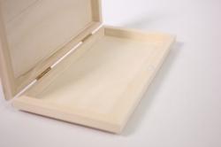 деревянная заготовка - шкатулка купюрница с фрезой 18x9см h=2см