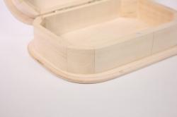 деревянная заготовка - шкатулка с закругленными краями №2 18х13см h=6см