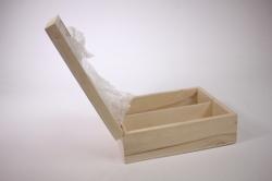 деревянная заготовка - шкатулка с зеркалом внутри 22х17 h=7см