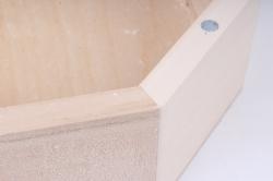 деревянная заготовка - шкатулка восьмигранная глубокая с фрезой