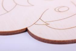 деревянная заготовка - слон 14*15см, фанера 4мм 005038