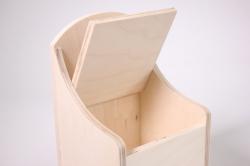 деревянная заготовка - солонка деревенская 12х12 h=31см
