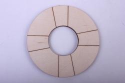 Деревянная заготовка - Спасательный круг 8см, фанера 4мм  402080