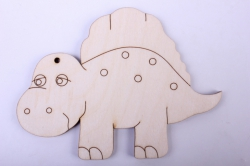 деревянная заготовка - спинозаврик 12*9см, фанера 4мм  005064