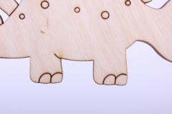 деревянная заготовка - стегозаврик 12*6см, фанера 4мм 005065