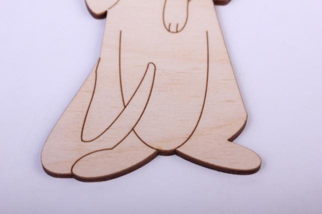 деревянная заготовка - сурок 7,5*15см, фанера 4мм 005032