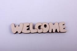 деревянная заготовка - табличка welcome 8*2,5см, основа фанера 6мм, накладки фанера 3мм  201021