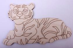 Деревянная заготовка - Тигр 15*10см, фанера 4мм 005039