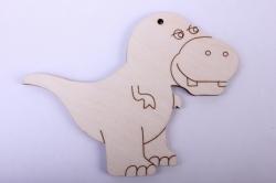 деревянная заготовка - тиранозаврик 12*9см, фанера 4мм 005066
