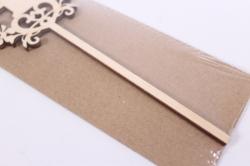 деревянная заготовка - топпер цифры 1 дизайн №4, высота 20см, фанера 3мм 109088
