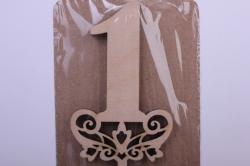 Деревянная заготовка - Топпер цифры 2 дизайн №1, высота 20см, фанера 3мм 101092