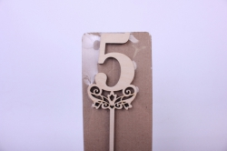 деревянная заготовка - топпер цифры 2 дизайн №5, высота 20см, фанера 3мм 101096