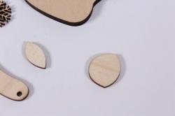 деревянная заготовка - валенок 6*5,5см, основа фанера 6мм 201024