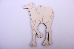 Деревянная заготовка - Верблюд 10,5*15см, фанера 4мм 005027