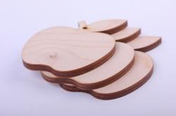 Деревянная заготовка - Яблочко 7*5,5см, фанера 4мм 162-04-7