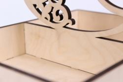 деревянная заготовка - ящик для мандаринов с резной ёлкой 25*18*25см, фанера 6мм 302035