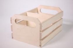 деревянная заготовка - ящик реечный маленький с перегородкой 20х14 h=11cм