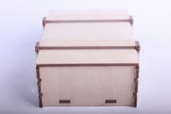 деревянная заготовка - ящик реечный малый 12*9*4см, фанера 4мм  302035