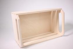 деревянная заготовка - ящик реечный средний 25х16 h=13см