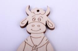 деревянная заготовка - забавная корова 11см, фанера 4мм 402089
