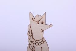деревянная заготовка - забавная лиса 11см, фанера 4мм  402087