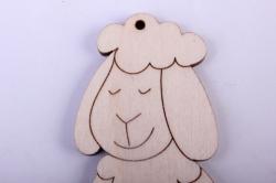 деревянная заготовка - забавная овечка 10см, фанера 4мм 402084