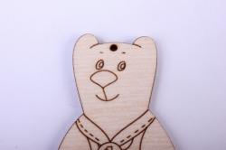 деревянная заготовка - забавный медведь 11см, фанера 4мм  402086
