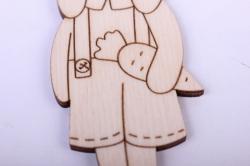 деревянная заготовка - забавный заяц 11см, фанера 4мм  402085