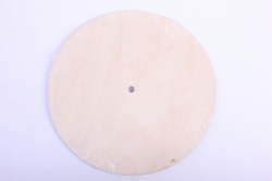 деревянная заготовка - заготовка для часов №3 круг 25см, фанера 3мм 75-03-20