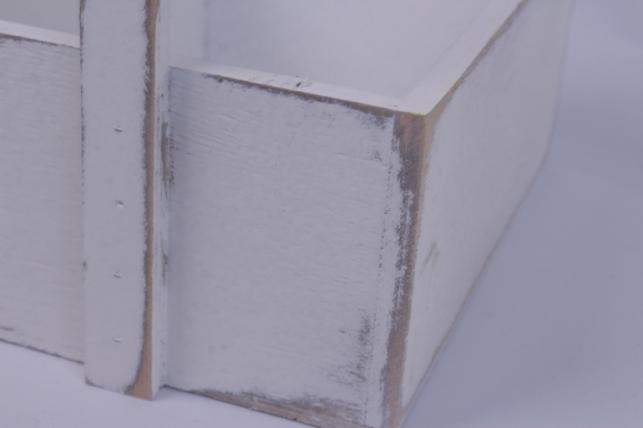 деревянныйящикgardenручкаквадратбелыйl20*15-32см