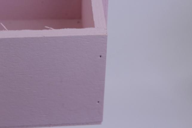 деревянныйящикgardenручкаквадратрозовыйl20*15-32см