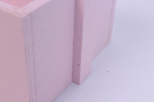 деревянныйящикgardenручкаквадратрозовыйstandart26*14*32см