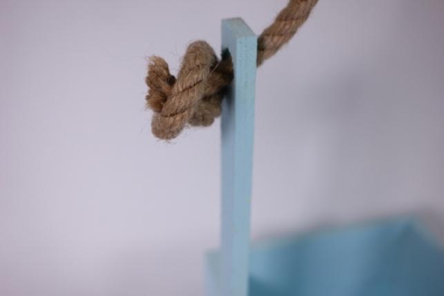 деревянныйящикgardenручкаверёвкамголубой15*15*28см