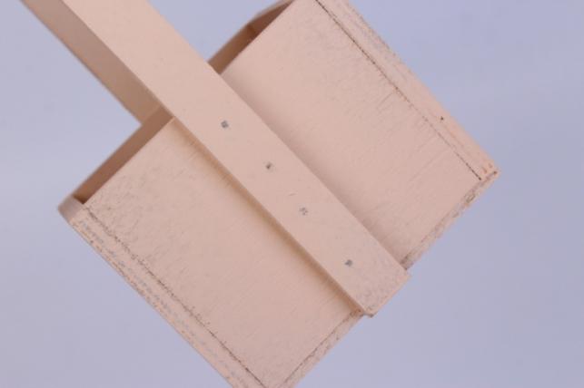деревянныйящикgardenручкаверёвкаsперсиковый12*12*27см