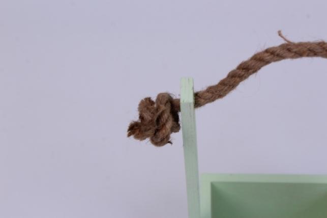деревянныйящикgardenручкаверёвкаsсалатовый12*12*27см