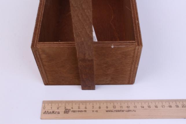 деревянныйящикgardenручкаверёвкаstandartтёмно-коричневый26*14*32см