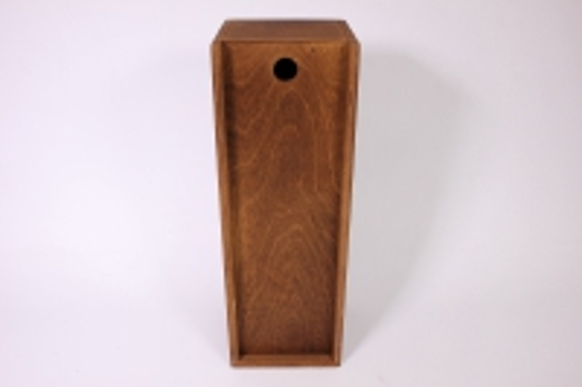 деревянныйящик-пеналподбутылкутёмно-коричневый35*12*12см
