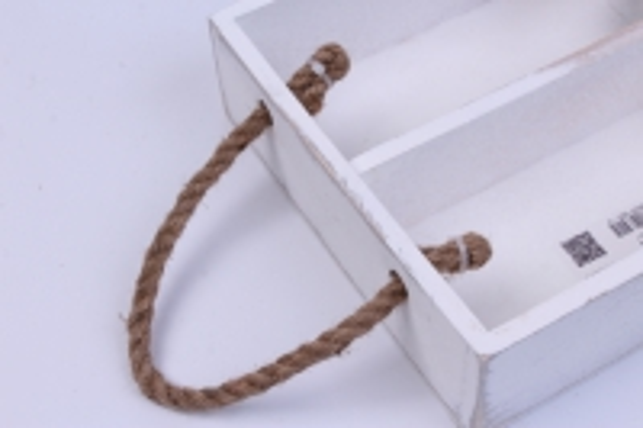 деревянныйящик-поддонсперегородкамиибоковымиверёвкамимбелый20*20*6см